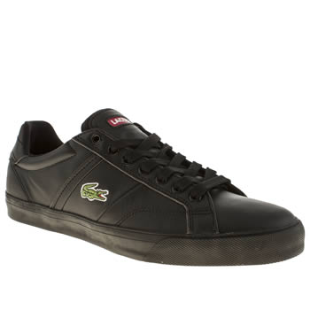 mens lacoste black fairlead trainers