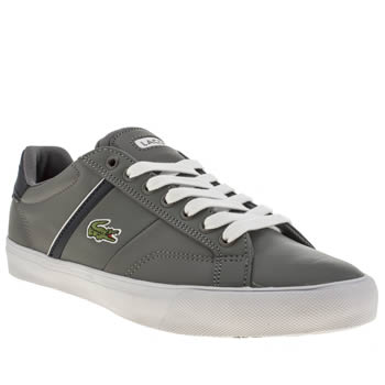 mens lacoste dark grey fairlead trainers