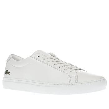 Lacoste White L12-12 Trainers