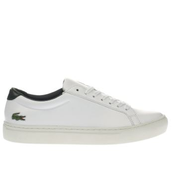 Lacoste White & Green L-12-12 Trainers