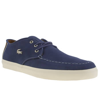 mens lacoste blue sevrin 3 trainers