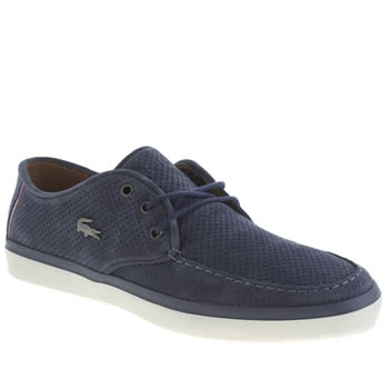 Mens Lacoste Navy & White Sevrin Trainers