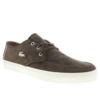 mens lacoste dark brown sevrin 3 trainers