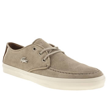 mens lacoste light grey sevrin 3 trainers