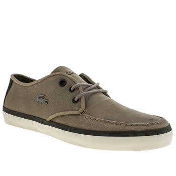 Mens Lacoste Dark Grey Servin Trainers