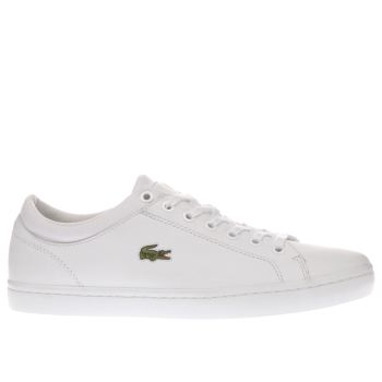 Mens Lacoste White Straightset 116 Trainers