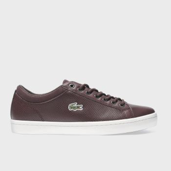 Lacoste Burgundy Straightset Mens Trainers