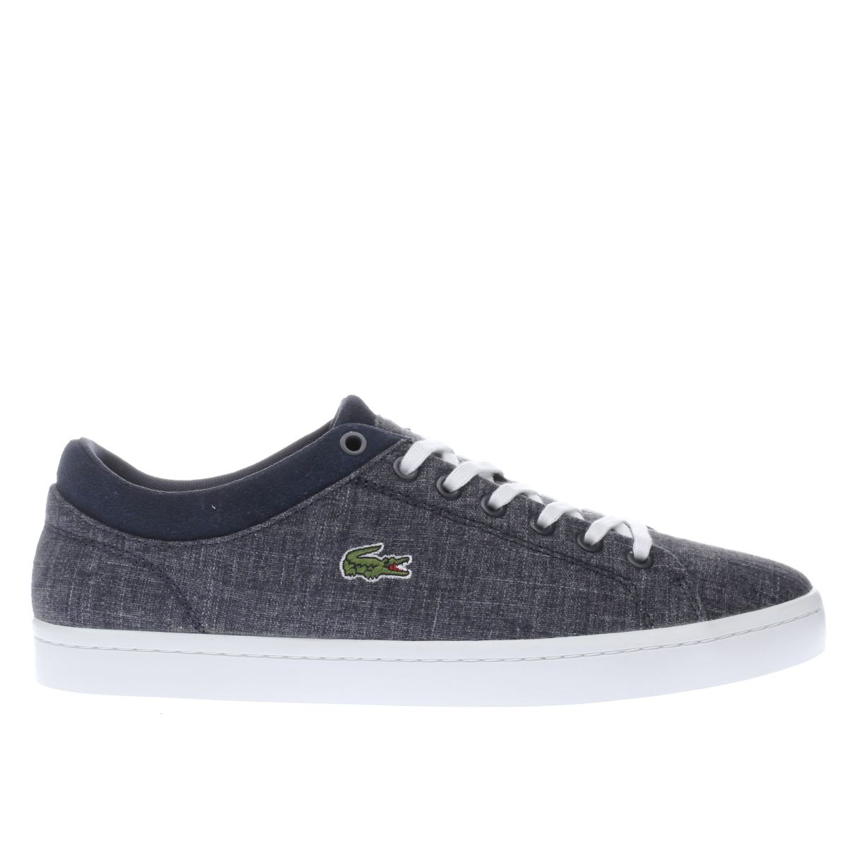 lacoste navy straightset trainers