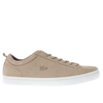 Lacoste Tan Straightset Mens Trainers