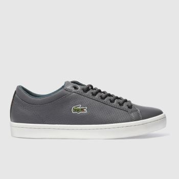 Lacoste Grey Straightset Mens Trainers