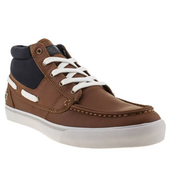 Mens Lacoste Tan Keel Mid Trainers