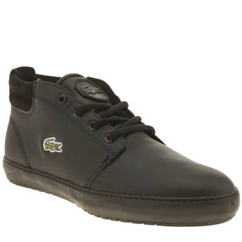 Mens Lacoste Black Ampthill Terra Trainers