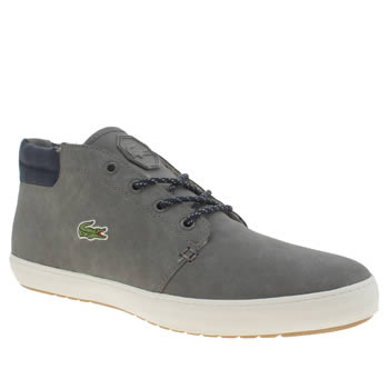 Mens Lacoste Grey Ampthill Terra Trainers