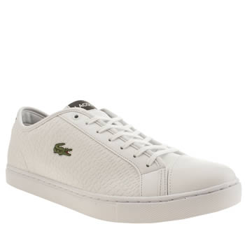 Mens Lacoste White Showcourt Croc Trainers