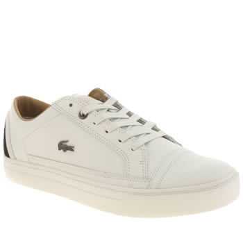 Mens Lacoste White Bowerey Trainers