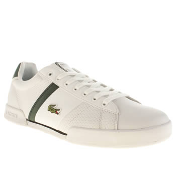 Mens Lacoste White & Green Deston Trainers
