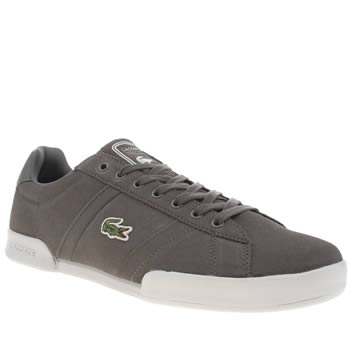 Mens Lacoste Dark Grey Deston Trainers
