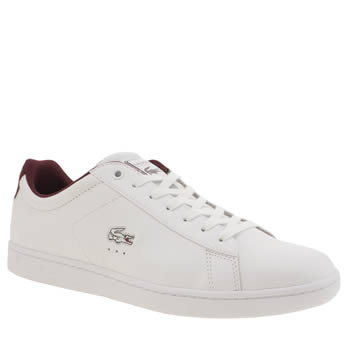 Mens Lacoste White Carnaby Evo Trainers