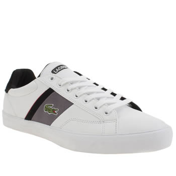 Mens Lacoste White Fairlead Trainers
