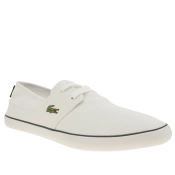 Mens Lacoste White & Navy Marice Lace Urs Trainers
