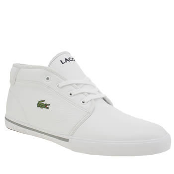 Mens Lacoste White Ampthill Trainers