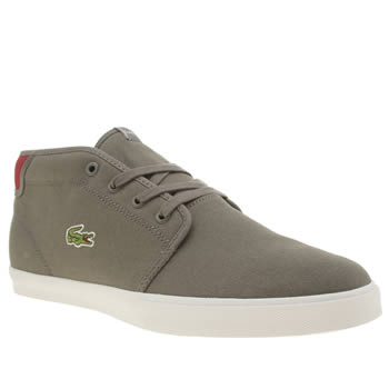 Mens Lacoste Dark Grey Ampthill Trainers