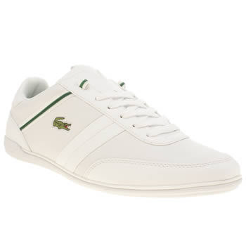 Mens Lacoste White & Green Giron Trainers