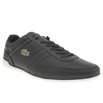 Mens Lacoste Navy & Grey Giron Trainers