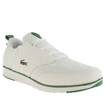 Lacoste White & Green Light Trainers