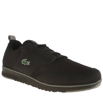 Mens Lacoste Black & Grey Light Trainers