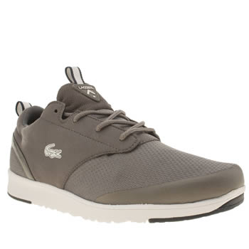 Mens Lacoste Dark Grey L-ight 2-0 Trainers