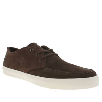 Lacoste Dark Brown Sevrin 116 1 Mens Trainers