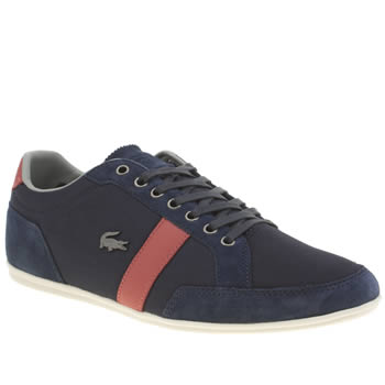 Mens Lacoste Navy & Red Alisos 22 Trainers