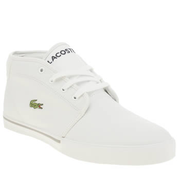 Mens Lacoste White Ampthill Lcr Trainers