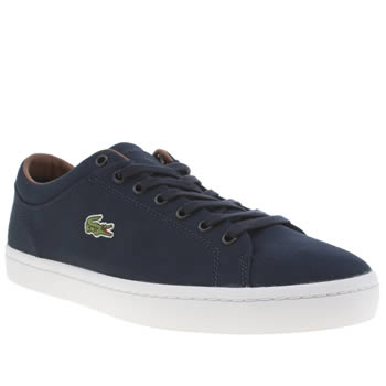 Mens Lacoste Navy Straightset Trainers