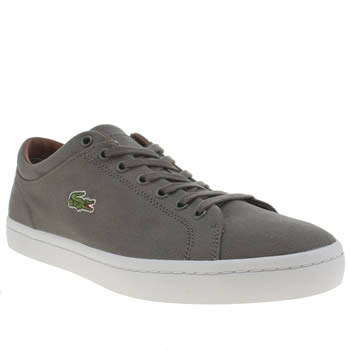 Mens Lacoste Grey Straightset Trainers