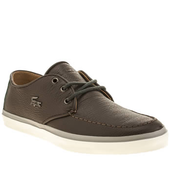 Mens Lacoste Dark Brown Sevrin 8 Trainers