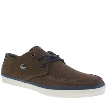 Mens Lacoste Dark Brown Sevrin 10 Trainers