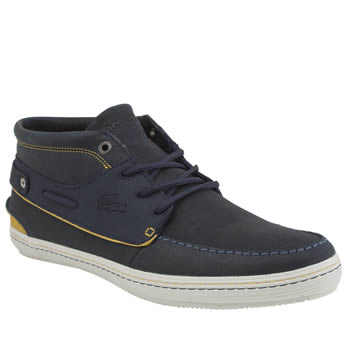 Mens Lacoste Navy Meyssac Deck Trainers