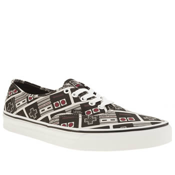 Vans Black & Grey Authentic Nintendo Controller Trainers
