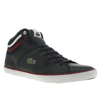 Mens Lacoste Navy & Red Camous Trainers