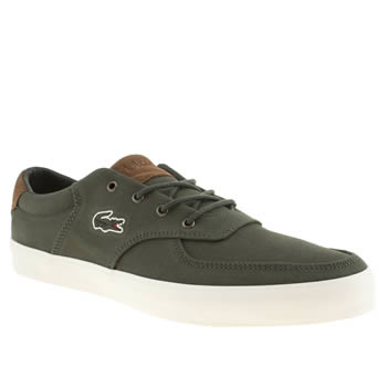 Mens Lacoste Khaki Glendon 8 Trainers