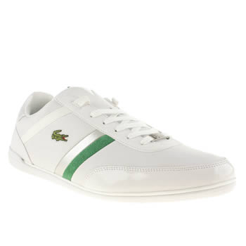 mens lacoste white & silver giron trainers