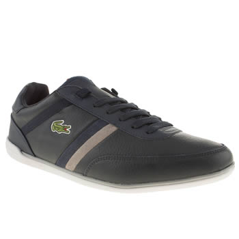 mens lacoste navy & grey giron ava trainers