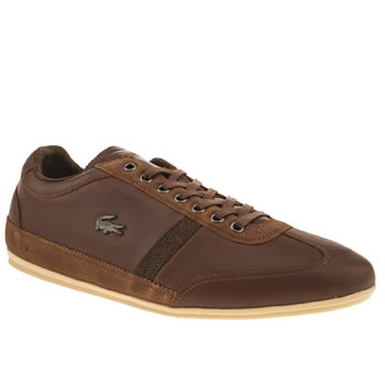 mens lacoste tan misano 25 trainers