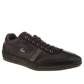 mens lacoste black misano 25 trainers