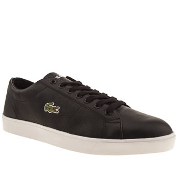 mens lacoste black & white marcel cup trainers