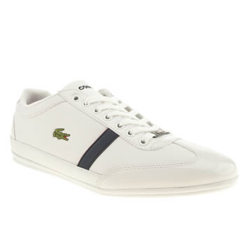 Mens Lacoste White & Blue Misano Sport Trainers
