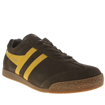 Gola Dark Brown Harrier Trainers