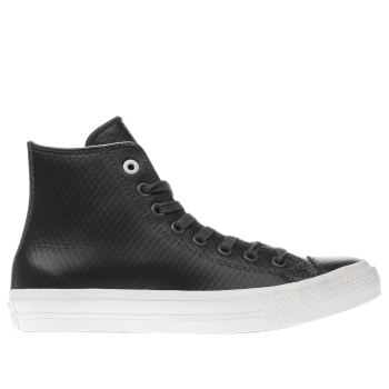Converse Black All Star Ii Hi Mesh Leather Trainers